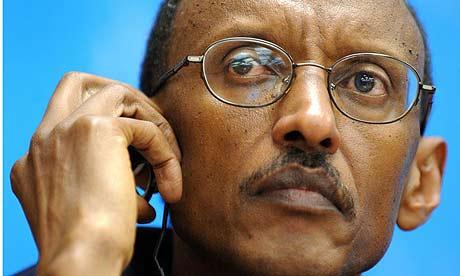 Paul Kagame. Photograph: Fabrice Coffrini/AFP