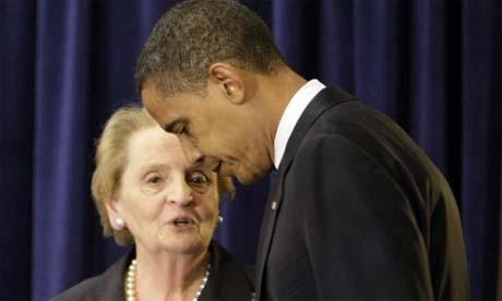 Barack Obama is sending Madeleine Albright to the G20 summit in Washington, Wednesday, June 18, 2008