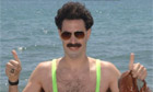 Borat in Cannes. Photograph: PA/Ian West