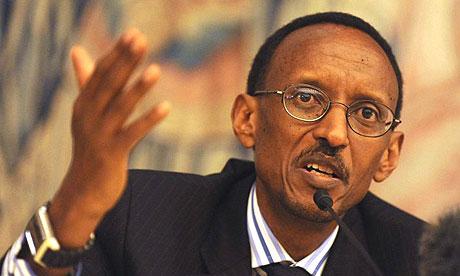 The Rwandan president, Paul Kagame