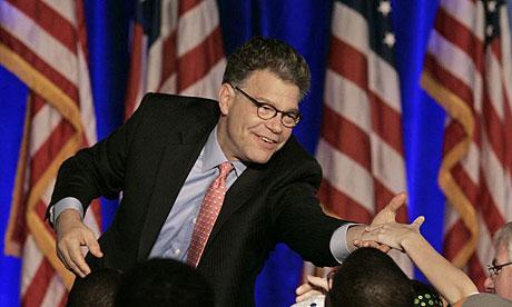 Democratic senate candidate Al Franken