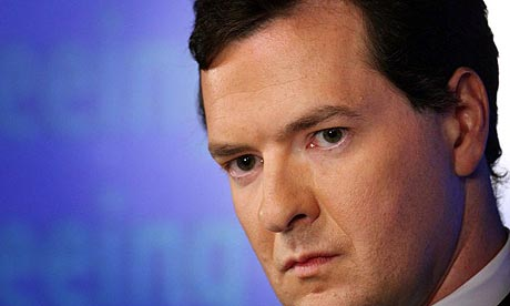 The shadow chancellor George Osborne
