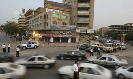 Traffic in Baghdad, Iraq