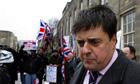 BNP leader Nick Griffin in Burnley