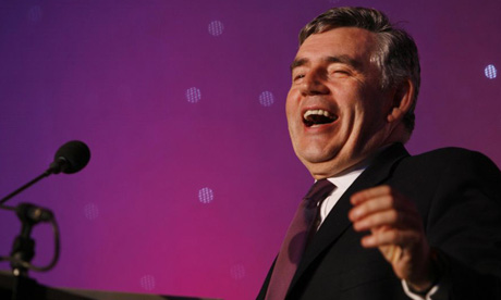 Gordon Brown at the Park Lane Hilton