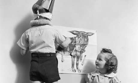 How do you play pin the tail on the donkey?