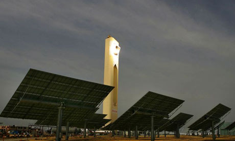 Solar tower plant near Seville