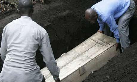 A funeral in Bulengo, near Goma in eastern DRC