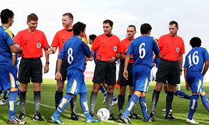 Match officials in Cyprus