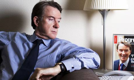 Peter Mandelson, Secretary of State. Photograph: David LevenePhotograph: David Levene
