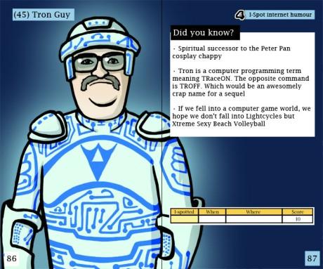 Cartoon of Tron Guy
