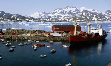 Ammassalik harbour in Greenland