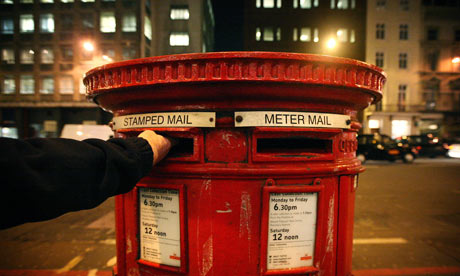 A Royal Mail letter box in London