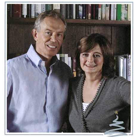 Tony Blair and Cherie Blair Christmas card