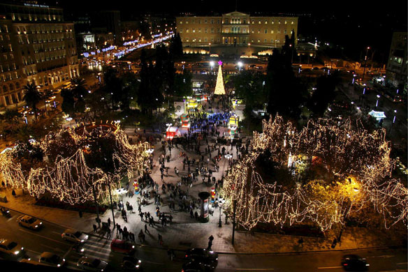 Gallery Christmas lights: Athens