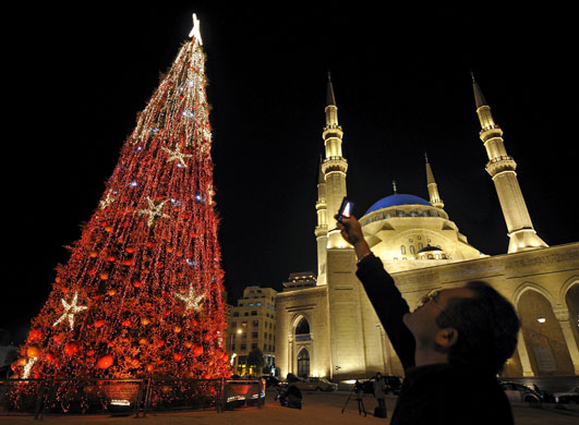 Gallery Christmas lights: Lebanon