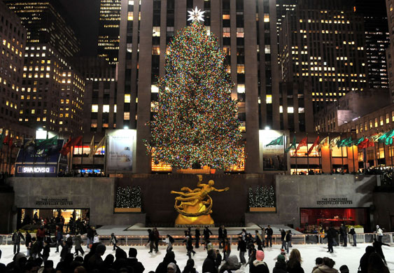 Gallery Christmas lights: New York