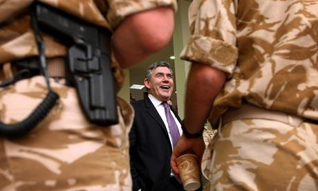 Gordon Brown in Basra
