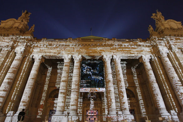 Gallery Light installations: Grand Palais in Paris lit by artist Charles Sandison