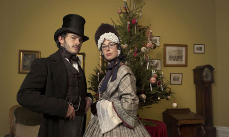 Giles Coren and Sue Perkins in Supersizers GO. Photograph: BBC/Silver River