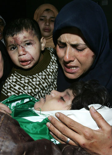Gallery Gaza air strikes: Palestinians Attend Funeral Of Five Young Baalusha Sisters