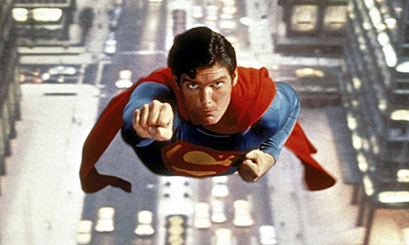 Christopher Reeve as Superman in 1978 movie
