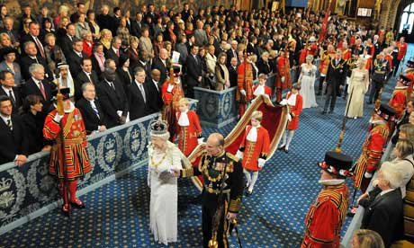 Queen Elizabeth enters Parliament