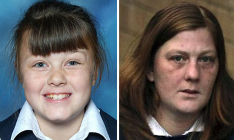 A composite picture of Karen Matthews and Shannon Matthews