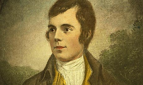 A portrait of Scottish poet Robert Burns