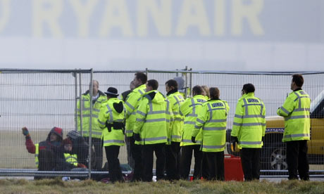 Stansted Airport protest
