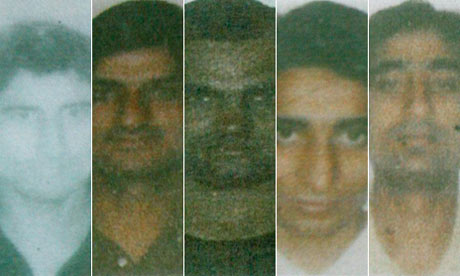 Five of the nine militants killed in the recent attacks in Mumbai