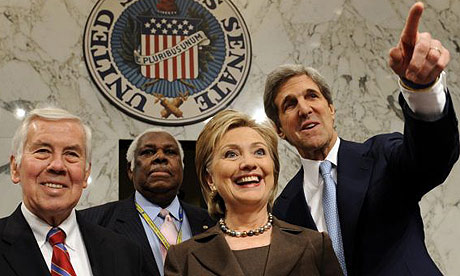 Hillary Clinton, Richard Lugar, John Kerry