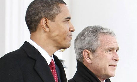 George Bush and Barack Obama