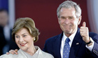 George Bush and wife Laura Bush