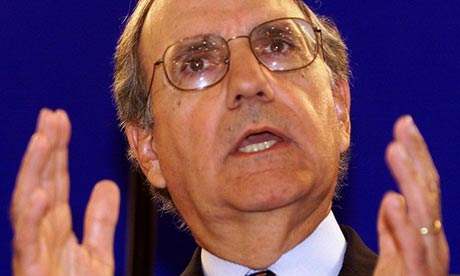 Former US senator George Mitchell. Photograph: Paul McErlane/Reuters