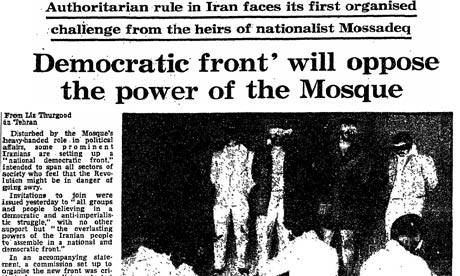 Iranian Revolution, 30 years: Democratic front
