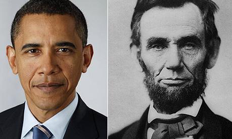 Barack Obama and Abraham Lincoln