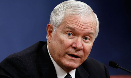 US secretary of defence Robert Gates