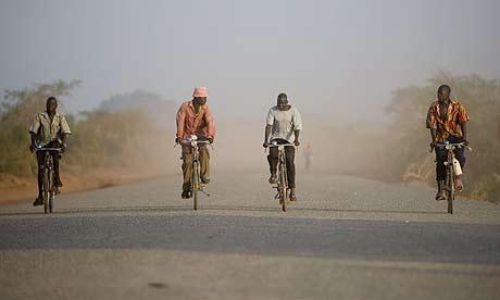 The Lira road, Katine.