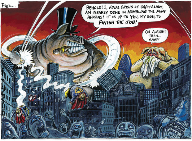 Martin Rowson Swine Flu Cartoon