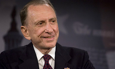 Arlen Specter, US senator for Pennsylvania, announces he is switching to the Democratic party