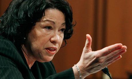US supreme court nominee Judge Sonia Sotomayor