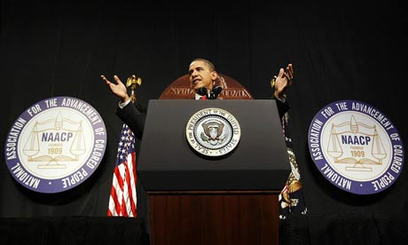 Barack Obama at the NAACP convention