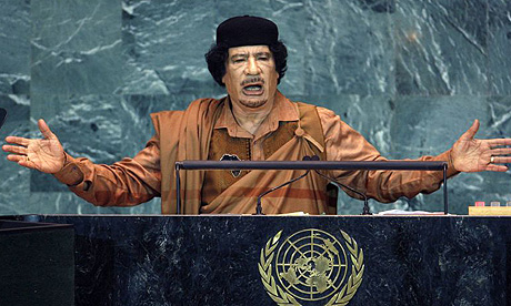 Muammar Qaddafi - Renewed Champion of the Palestinian cause on the Security Council? Photo: Mike Segar/Reuters