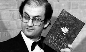 Salman Rushdie wins the 1988 Whitbread Award