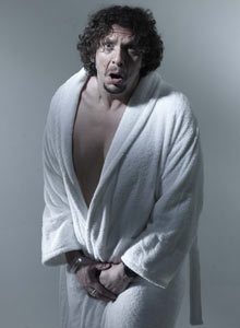 Jay Rayner after being waxed