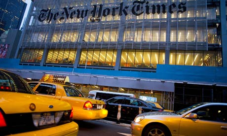 the new york times newspaper. The New York Times building,