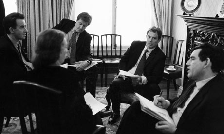 Tony Blair and Gordon Brown seen during the 1997 election campaign
