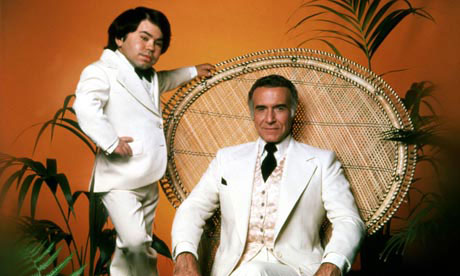 The perfect hosts ... Herve Villechaize and Ricardo Montalban (right) in Fantasy Island. Photograph: Everett Collection/Rex Features