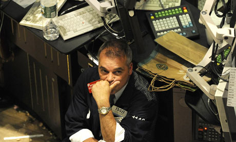 Despondent trader, New York Stock Exchange, 2008